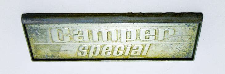 "Надпись б/у ""Camber Special"" серебро 105х33мм"